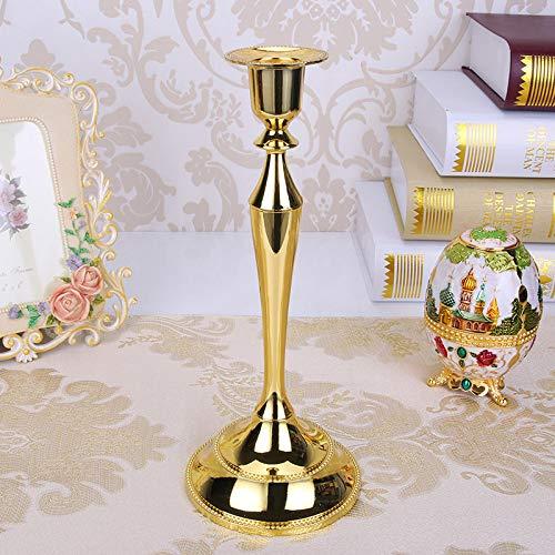 HAIBI Candelero Plata/Oro/Bronce/Negro Metal Pilar Velas Porta Velas Aboreo Boda para La Decoración De La Casa De La Maríaza Candelabra, Oro Único Portavelas