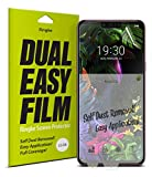 Ringke Dual Easy Film [2 Pack] Compatible with LG G8 ThinQ
