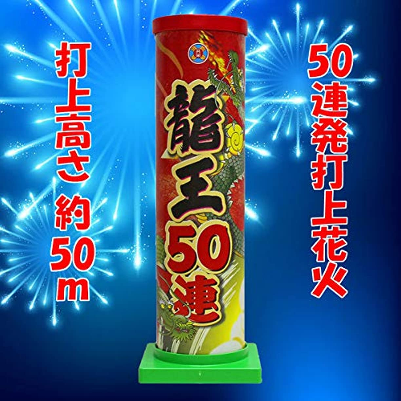 批評褐色サラダ【打上花火】龍王50連 連発打上 夜花火