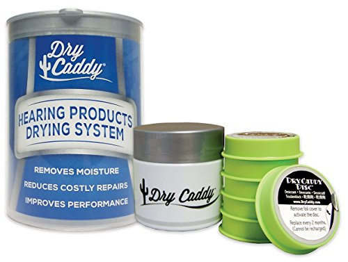 DryCaddy by Dry & Store | Dry Aid Kit - Protection Against Moisture Damage for Hearing Aids, Cochlear Implants and Other Electronic Instruments