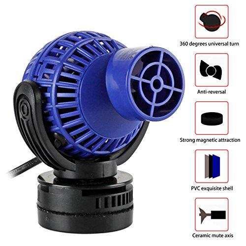 Yaobluesea Aquarium stromingspomp circulatiepomp golfpomp golfpomp Wave Maker IPX8 6W 4000L/H blauw