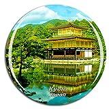 Weekino Templo de Kinkakuji de Japón Kyoto Imán de Nevera 3D de Cristal de la Ciudad de Viaje Recuerdo Colección de Regalo Fuerte Etiqueta Engomada refrigerador