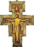 Ferrari & Arrighetti Crucifijo San Damián de Pared en Madera de álamo - 43 x 32 cm
