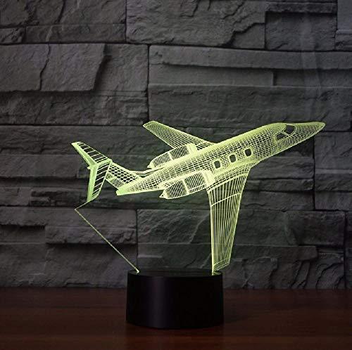 Usb Creatief vliegtuig, nachtlampje, verlichting, wijzigen, led-tafellamp, usb-aanraking, vliegtuig, slaaplicht, kerstcadeau, app mobiele telefoon, bluetooth, afstandsbediening, kleur oogbescherming, energiebesparende tafellamp