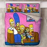 SSIN-Simpson Bettbezug Bettwäsche Set - Bettbezug