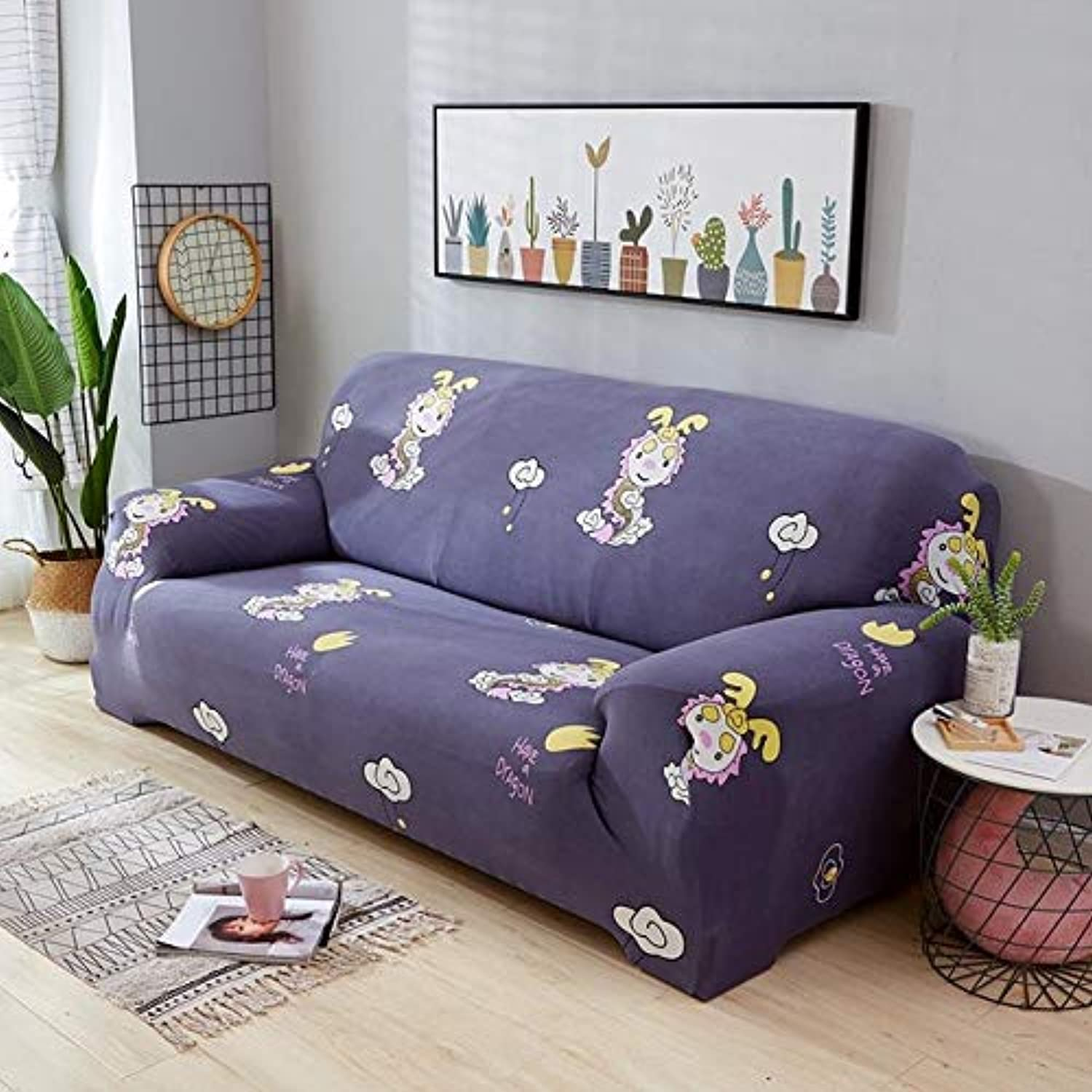 Elastic Sofa Wrap All-Inclusive Slip-Resistant Slipcovers Sofa Cover Furniture Predector Cushion Cover for 1 2 3 4 Seater Sofa   02, Two Seater