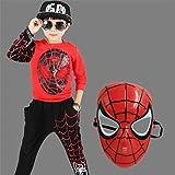 ZGCP Costumes d'Halloween Vêtements Spiderman pour Enfants Costume Altman Batman Rouge Noir 120 mètres