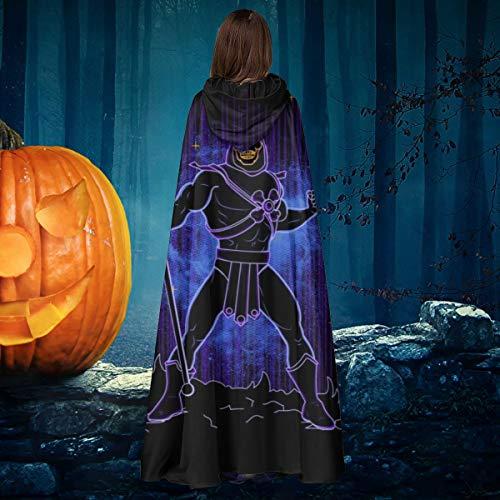 AISFGBJ Masters of The Universe Shadow of Skeletor - Disfraz de Bruja de Halloween Unisex con Capucha para Disfraz de Vampiro