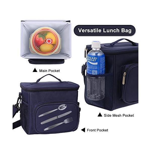 51XS+PEgqTL. SS600  - esonmus Bolsa Térmica Comida 10L, Termica Porta Alimentos con Correa Portatil Bolsa de Almuerzo para Adulto Niños Bolsa…