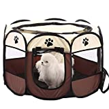 <span class='highlight'><span class='highlight'>Aoweika</span></span> Portable Pet Playpen, Puppy Dog Cat Playpen with 8-Panel Kennel, Indoor/outdoor Pet Tent Fence for Pet Kennel Cage, Rabbit Guinea Pig Playpen and Hamster Cage