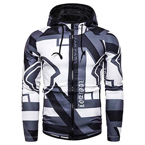 Abbigliamento sportivo casual giovanile fitness equitazione allentato elastico con cappuccio stampato cappotto maglione grigio L