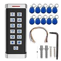RFIDアクセスコントロールキーパッド、IP68防水亜鉛合金ケースアクセスコントロール、DC 12V-24V 125KHz IDカードドアセキュリティエントリーシステム、2000ユーザー(ユニバーサル)