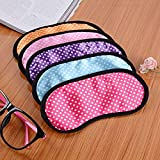 Dotted Sleeping Blindfold Shade Cover Travel Soft Comfortable Protect Eye Sleep Mask Random Color