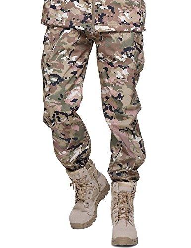 YFNT Militare tattico Softshell Pantaloni Uomo Esercito Impermeabile Carico Casuale Pantaloni