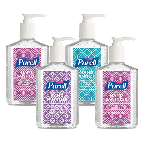 PURELL Advanced Hand Sanitizer Refreshing Gel Design Series, Clean Scent, 8 Fl Oz Pump Bottle (Pack of 4) - 9652-06-ECDECO