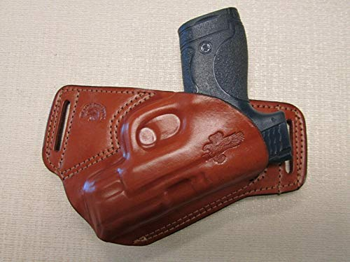 Braids Holsters S&W M&P Shield 9&40 Cal. Formed Brown Leather S.O.B Holster