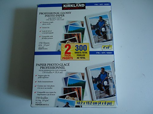 Kirkland Signature Professional Glossy Inkjet Photo Paper 4'x6' 300 Sheets