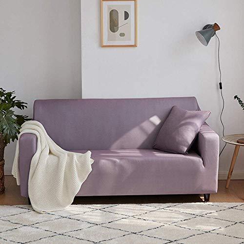 JIAYOUFC Sofa Schutz Abdeckung, Simplicity Stretch Sofa Stoff Einfarbig Pink Grey Elastic Stuhl Set Einzel- bis Viersitzer Sofa Schonbezug für Wohnzimmer Hotel Sofa Handtuch Couch Bezug, 2, Sitz 145