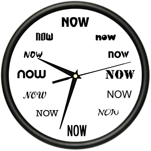 It's Now TIME Wall Clock Funny Office Late Person Procrastinate Gift