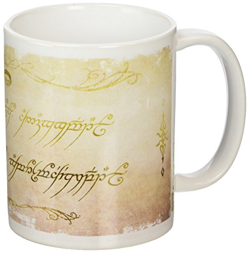 The Lord Of The Rings MG23425 (Ring Inscription) Mug, Céramique, Multicolore, 11oz/315ml