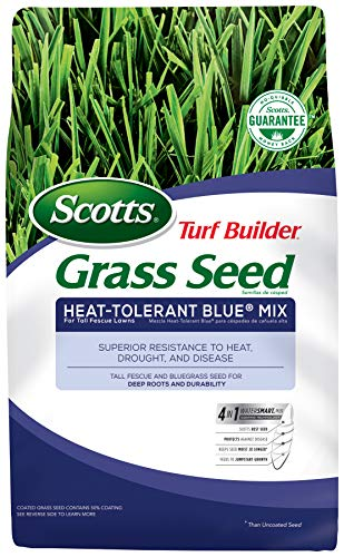 Scotts Turf Builder Grass Seed Heat-Tolerant Blue Mix For Tall Fescue Lawns, 3 Lb. - Full Sun and...