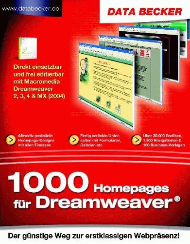 Preisvergleich Produktbild 1000 Homepages für Dreamweaver