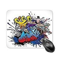 マウスパッド 滑り止め デスクマット カラフルな絵画 アートグラフィティ デスクパッド パソコンマット PCマット マウス用パッド テーブルマット 耐久性が良い ラップトップマット 防水 オフィス/ホーム用 光学式/レーザー式に対応