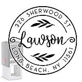 Custom Address Stamp Self-Inking Monogram Address Stamp Personalized Address Stamp 10+ Designs! (Round 6)