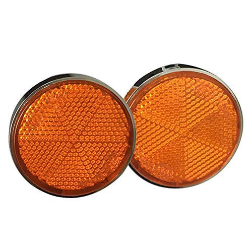 Motorcycle Safety Reflectors, 1 Pair 6mm Round Universal Motorcycle Front Fork Reflector, Safe Running at Night, Motorcycle Accessory(2Pcs)