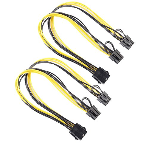 prettygood7 2 stks 8Pin naar grafische videokaart Dubbele PCI-E 8Pin(6Pin+2Pin) voedingskabel