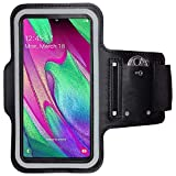 CoverKingz Sportarmband für Samsung Galaxy A40 - Armtasche mit Schlüsselfach Galaxy A40 - Sport Laufarmband Handy Armband Schwarz