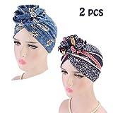 Zoom IMG-1 vientiane turbante africano 2 pezzi