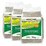 Versando Engrais pour gazon et pelouse ou engrais bleu ou chaux pour jardin - différentes tailles pour jardinage 30 kg