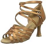 Diamant Damen Latein Tanzschuhe 108-087-379, Zapatos de Danza Moderna/Jazz para Mujer, Braun (Tan Dunkel), 34 2/3 EU