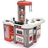 Smoby - Tefal Studio Bubble XXL Küche – Küche in extravaganter Winkelform, mit Sound, für Kinder ab 3 Jahren, mit viel Zubehör, rot