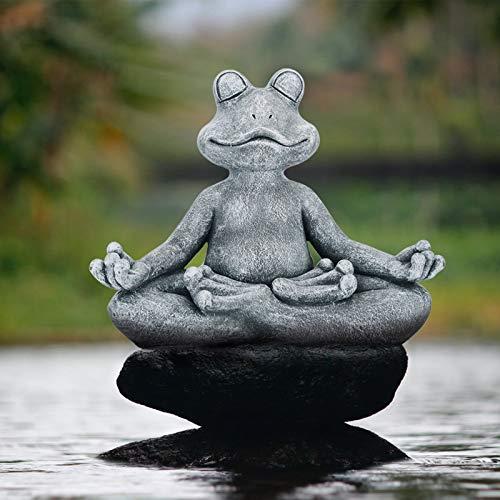Meditating Zen Frog Statue,Zen Animal Yoga Frog...