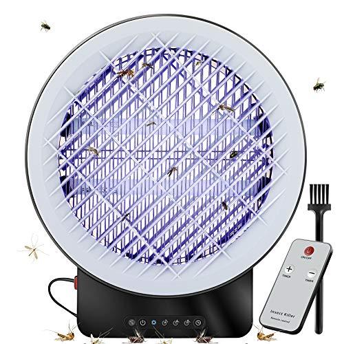 Mosquito Bug Zapper, BASEIN Mosquito Killer Lámpara UV Insect Killer Asesino de insectos electrónico para interior, temporizador y control remoto Mosquito asesino con cajón para carcasa de mosquito
