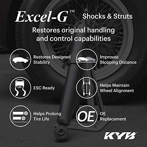 KYB 334246 Excel-G Gas Strut, Black/Silver