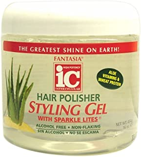 Fantasia IC Hair Polisher Styling Gel with Sparkle Lites, 16 Ounce