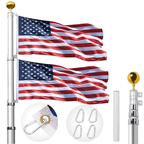 IN WHICH BAY 20FT Telescopic Flag Pole Kit,...