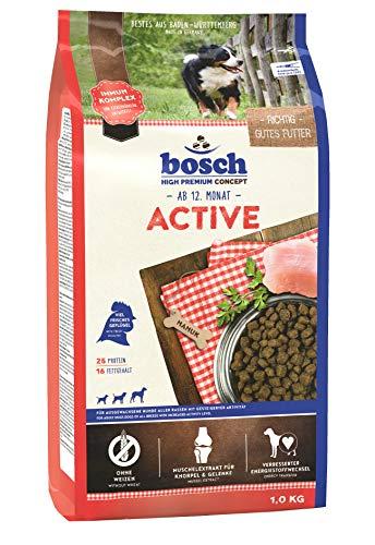 bosch HPC Active | Hundetrockenfutter für ausgewachsene Hunde aller Rassen mit gesteigerter Aktivität, 1 x 1 kg