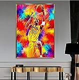 UIOLK La creencia del Baloncesto de Estilo nórdico Black Mamba El Gran Jugador de Baloncesto Kobe Bryant Cartel Decoración Moda Cartel Popular