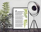 If by Rudyard Kipling Typografie-Druck, inspirierendes