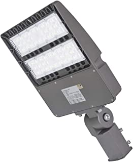 LED Parking lot Light,Super Bright LED Area Light 150W 5000K 135LM / W 100-277V AC, Outdoor Shoe Box LED Flood Light and Other Commercial Street Lighting Stadium,Slip-fit, UL and DLC