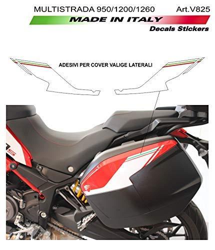Vulturbike Adesivi per Cover valigie Laterali - Ducati Multistrada 950/1200 / 1260