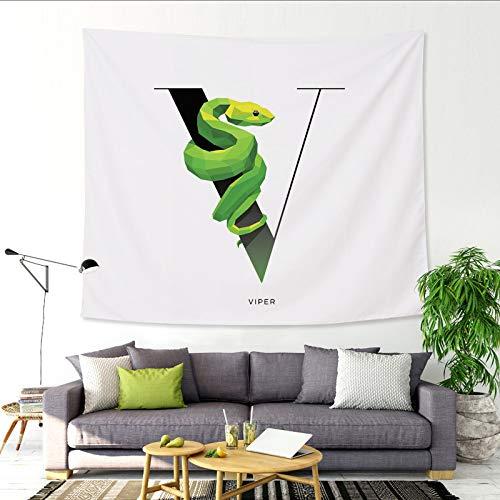 26 Manta de Pintura de Animales de Dibujos Animados de Tapiz de Alfabeto inglés Manta de Pintura V 229x150