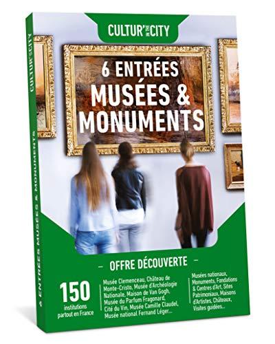 CULTUR'in The City Coffret Cadeau Culture 6 places - 300 expositions – Box DECOUVERTE – 150 Musées et Monuments de France Musées, Châteaux, Fondations, Édifices, Centres d'Art, Maison d'artiste