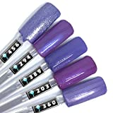 Color Gel 5er Set (je 5ml): Lila Laune Nails - Kollektion - Gel Lila, Gel Dunkellila, Colorgel Lila