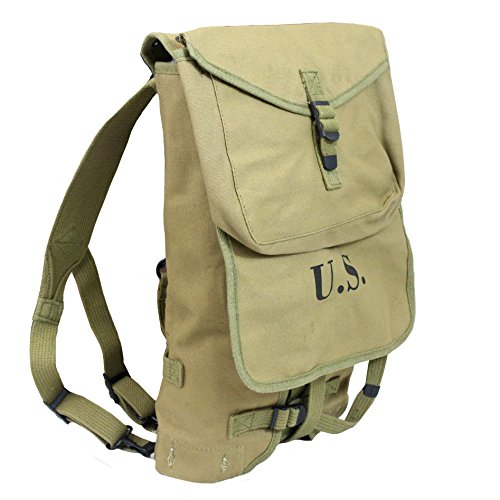 US Army WW2 Reproduction M1928 Khaki Haversack Backpack Bag