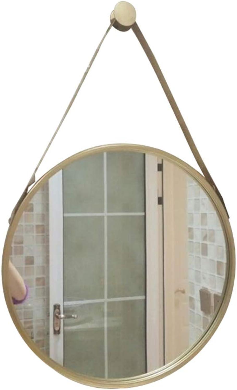 Nclon Round Hanging Wall Mirror, Wall-mounting Type 12  Beveled gold Bathroom Mirror Vanity Bedroom Bathroom Restroom-golden 30x30cm